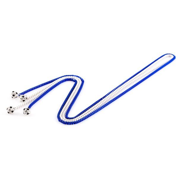 Halsketten Viererkette kristall weiß blau by 12teFRAU
