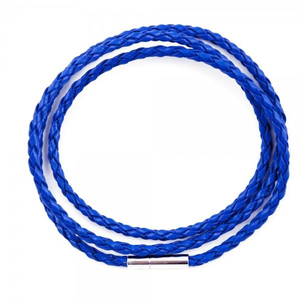 Lederband Doppelpack blau