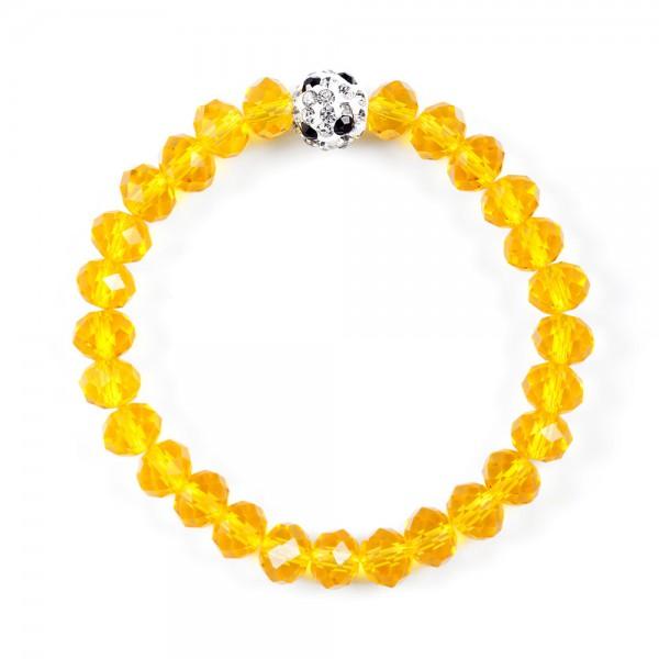 Kristallarmband Deine Farben gelb