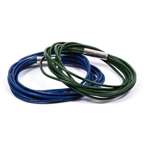 Lederarmband 10er blau grün by 12teFRAU