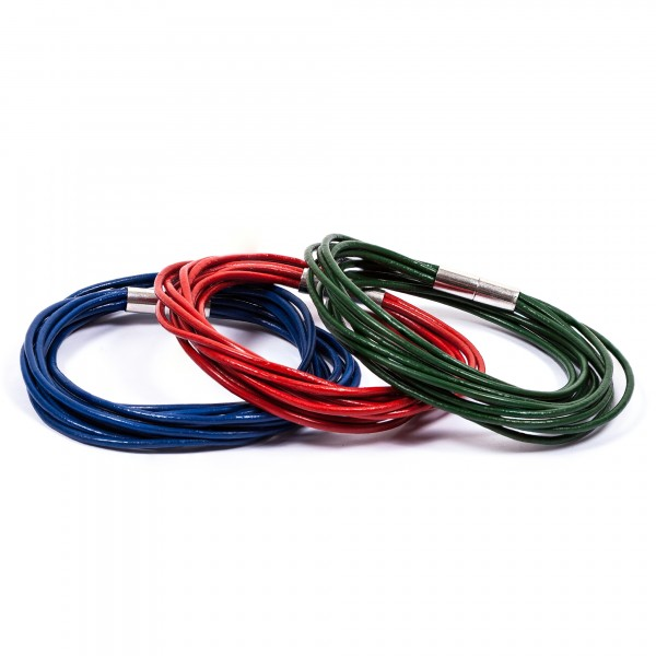 Lederarmband 10er blau rot grün by 12teFRAU