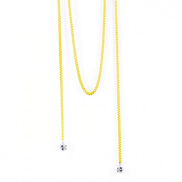 Halskette Viererkette kristall gelb by 12teFRAU