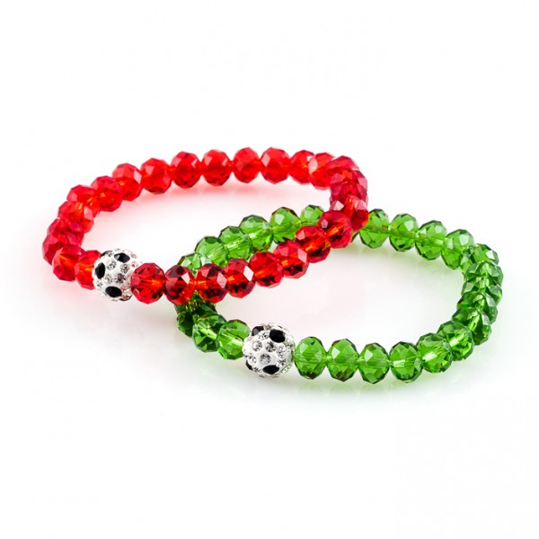 Kristallarmbänder Deine Farben rot grün