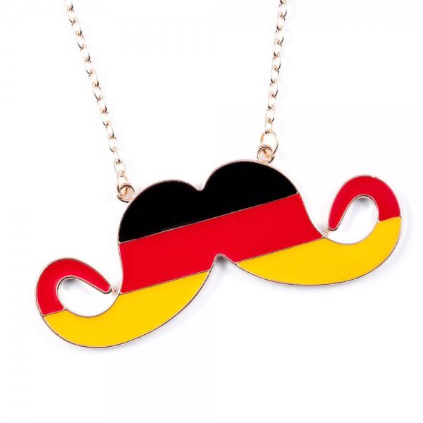 Halskette Moustache in Deutschlandfarben by 12teFRAU