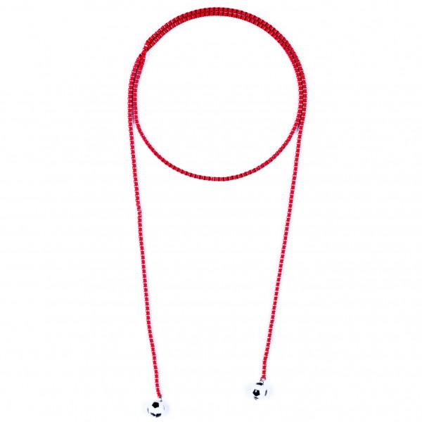 Halskette Viererkette rot by 12teFRAU