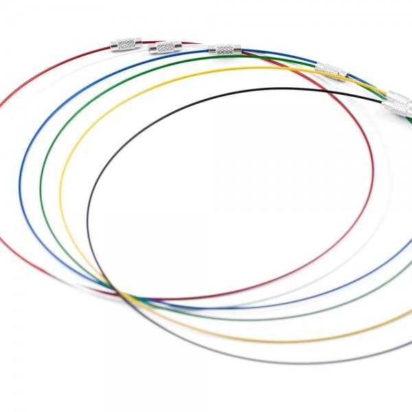 Halskette Mittelkreis schwarz weiß blau rot grün gelb by 12teFRAU