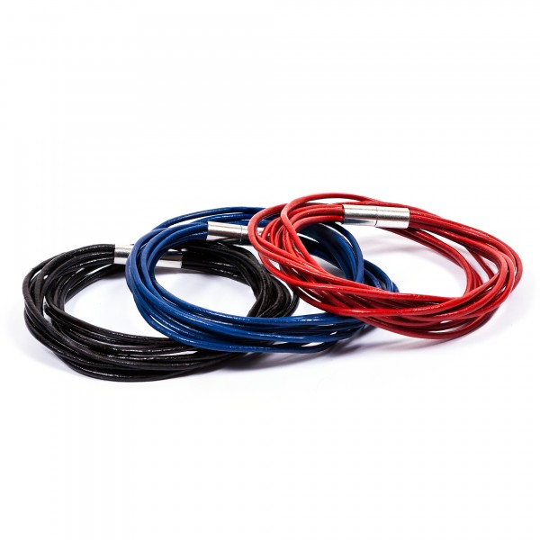 Lederarmbänder 10er schwarz blau rot by 12teFRAU