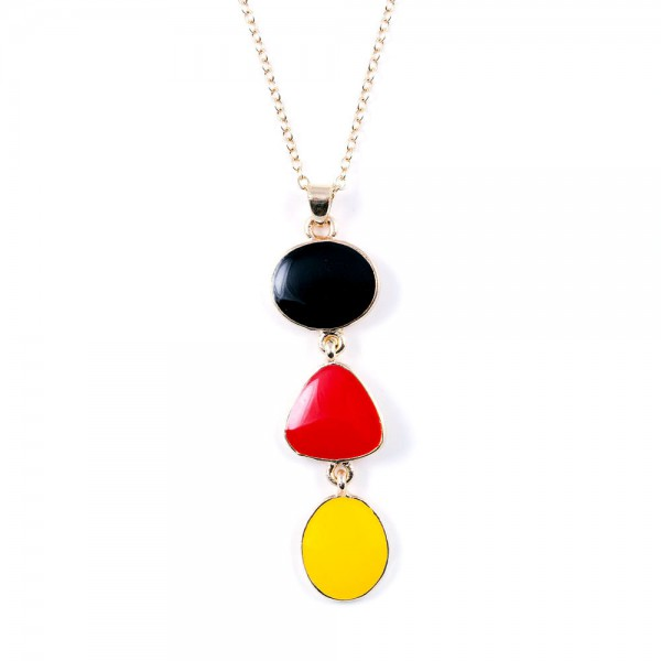 Halskette schwarz rot gold by 12teFRAU