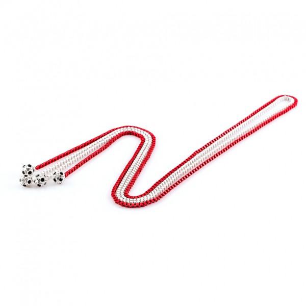 Halsketten Viererkette kristall weiß rot by 12teFRAU
