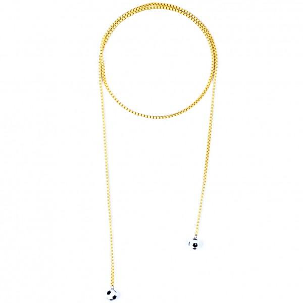 Halskette Viererkette gelb by 12teFRAU