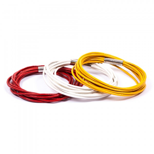 Lederarmband 10er weiß rot gelb by 12teFRAU