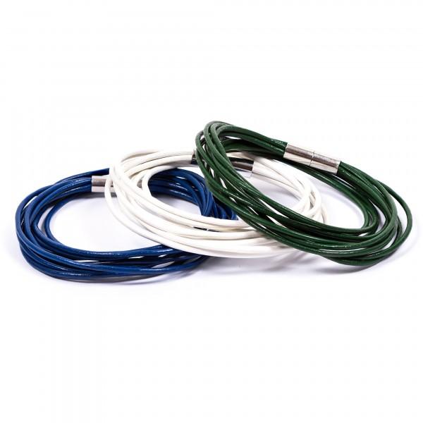 Lederarmbänder 10er weiß blau grün by 12teFRAU