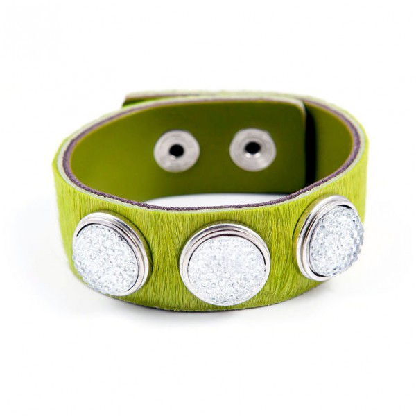 Druckknopf Armband Rasenprinzessin grün
