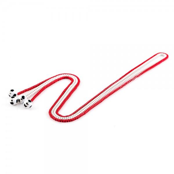 Halsketten Viererkette weiß rot by 12teFRAU