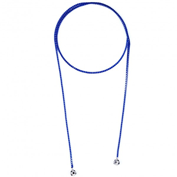 Halskette Viererkette kristall blau by 12teFRAU