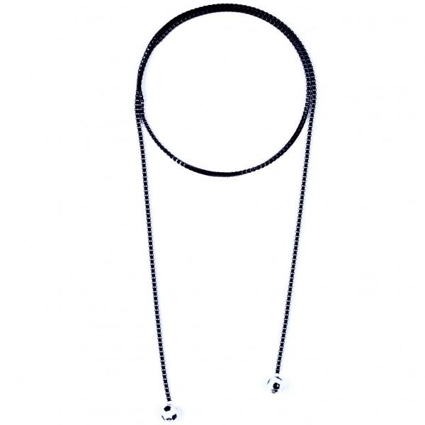 Halskette Viererkette schwarz by 12teFRAU