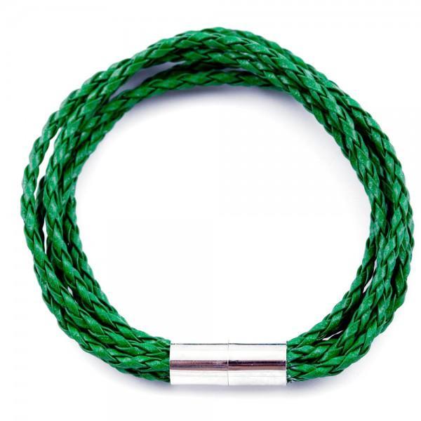 Lederarmband Knipser grün