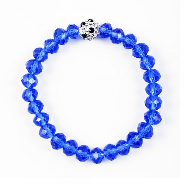 Kristallarmband Deine Farben blau