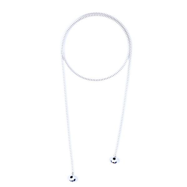 Halskette Viererkette weiß by 12teFRAU