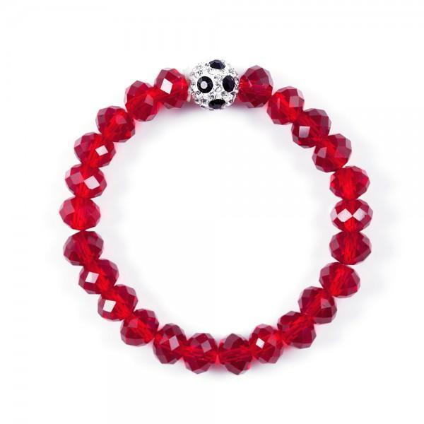 Kristallarmband Deine Farben rot