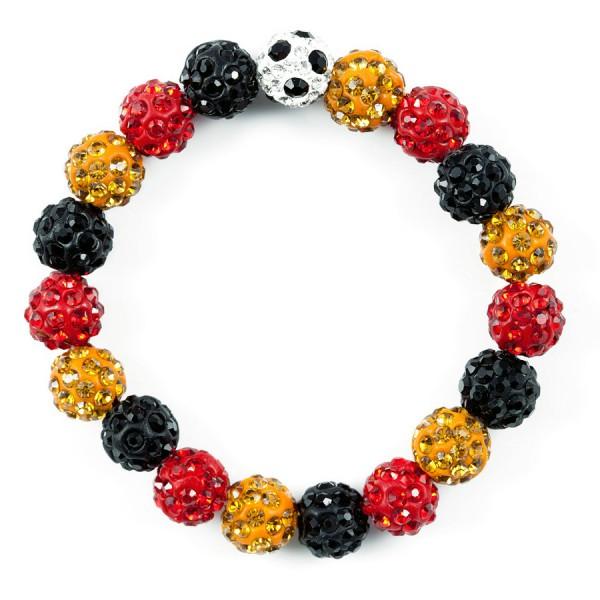 Perlen Armband Weltmeister schwarz-rot-gold