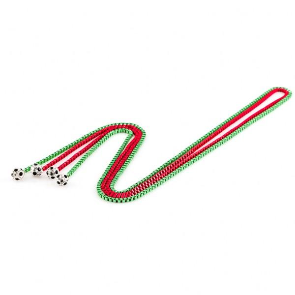 Halsketten Viererkette kristall rot grün by 12teFRAU