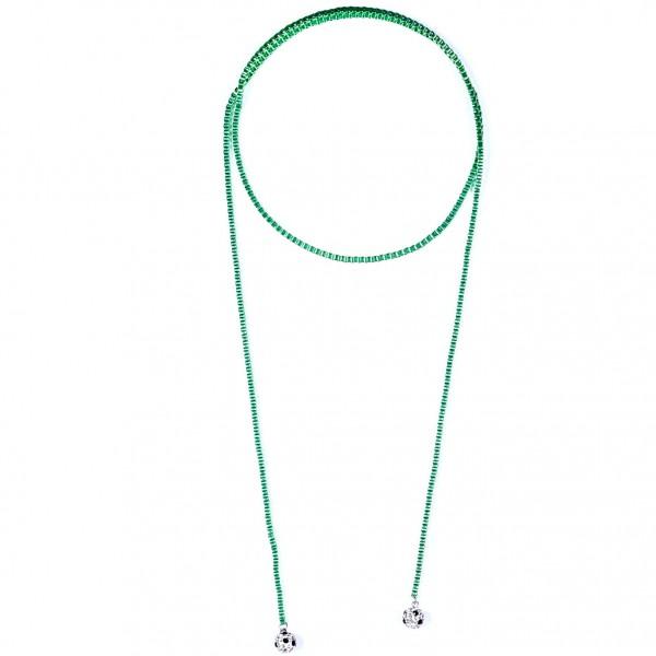 Halskette Viererkette kristall grün by 12teFRAU
