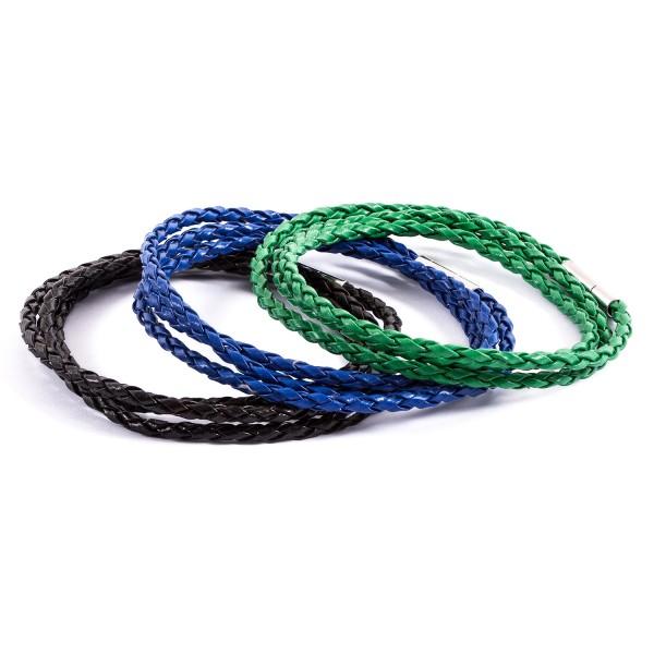 Lederarmbänder Doppelpack schwarz blau grün by 12teFRAU