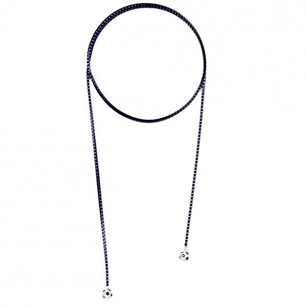 Halskette Viererkette kristall schwarz by 12teFRAU