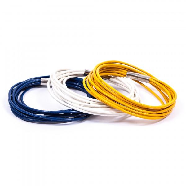 Lederarmbänder 10er weiß blau gelb by 12teFRAU