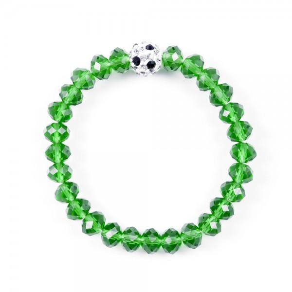 Kristallarmband Deine Farben grün