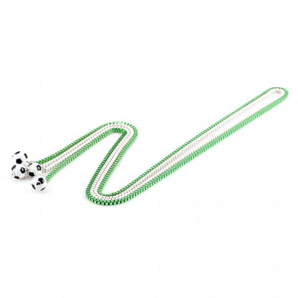 Halsketten Viererkette weiß grün by 12teFRAU