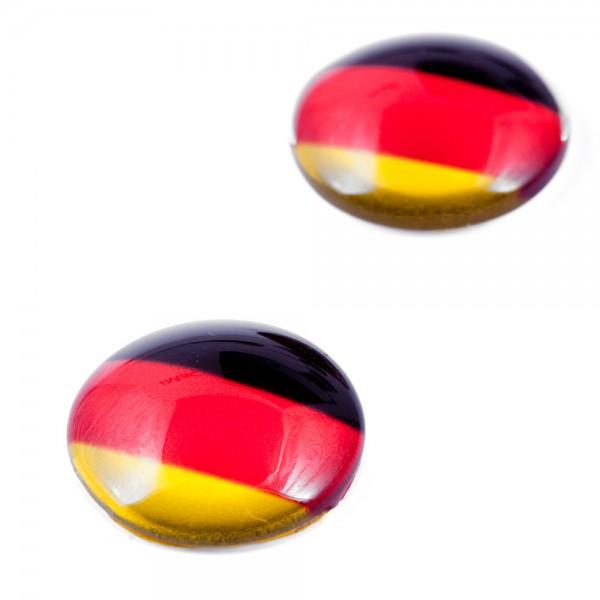 Druckknopf Deutschland schwarz rot gold