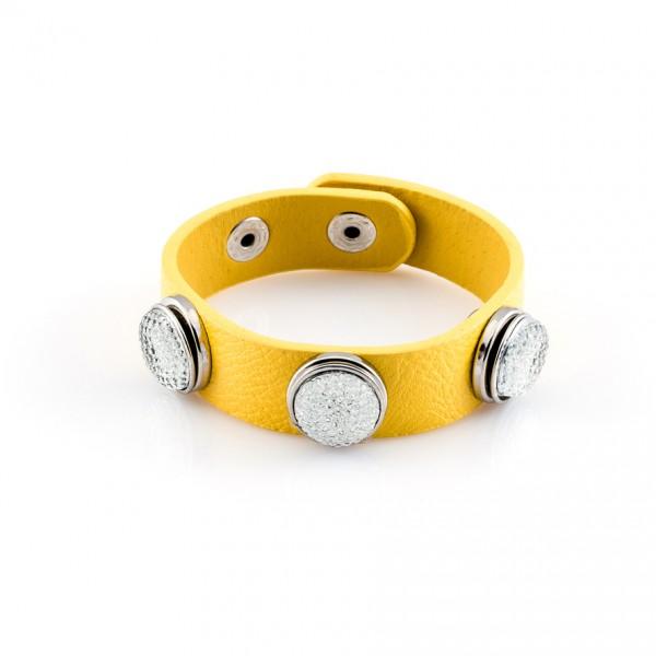 Druckknopfarmband Pressing gelb