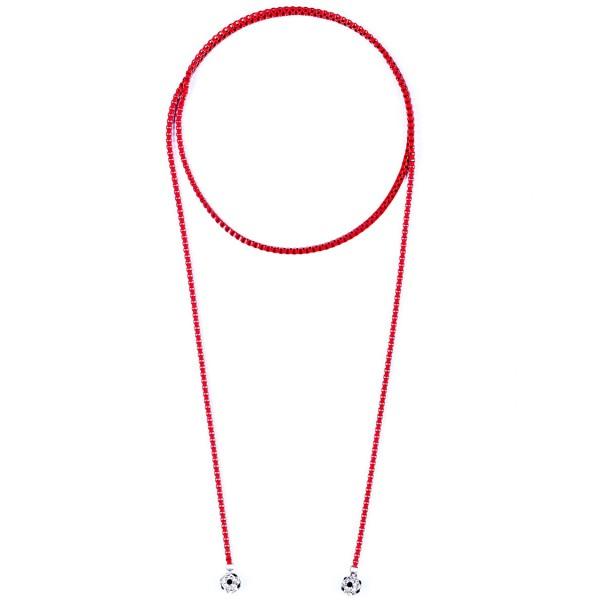 Halskette Viererkette kristall rot by 12teFRAU