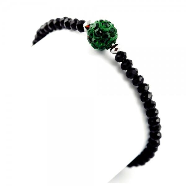 Perlenarmband Torlinie grün