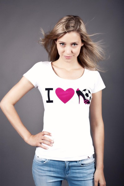 T-Shirt 12te Frau 12teFrau Schmuck Fußball Fanschmuck Fashion