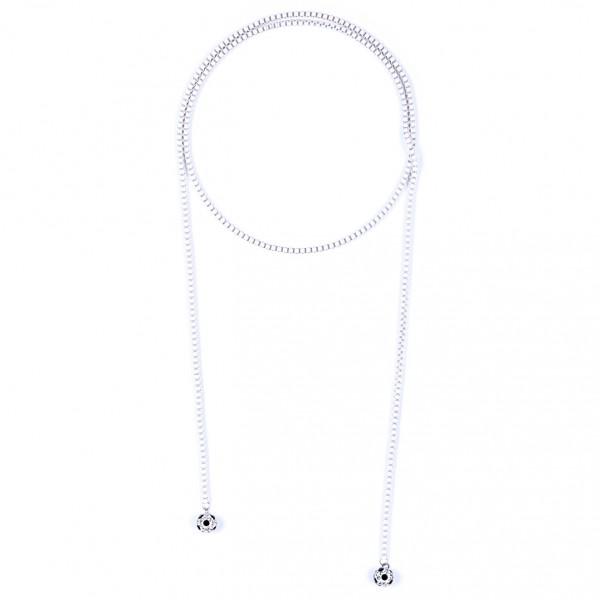 Halskette Viererkette kristall weiß by 12teFRAU